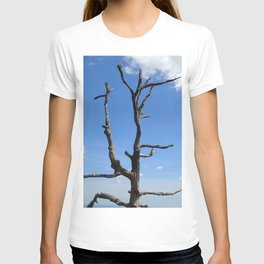 Dead Tree against a sky with clouds T-shirt