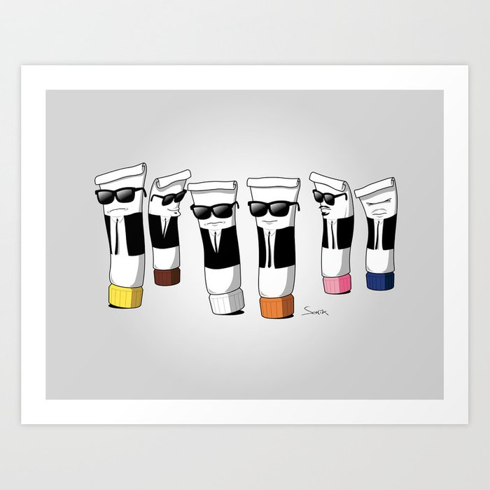 Reservoir Colours (no blood and dark colored t-shirts) Art Print
