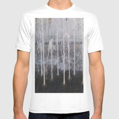 WATER Mens Fitted Tee White MEDIUM