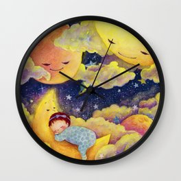Sleeping in the moonlinght Wall Clock