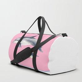 Bottlenose dolphin pink Duffle Bag