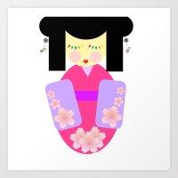 sakura Art Prints featuring Sakura by Sreetama Ray