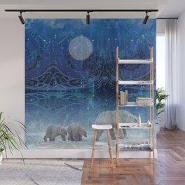 Arctic Journey of Polar Bears Wall Mural