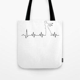 Zombie Heart Beat Halloween Cardiologist Nurse Light Tote Bag
