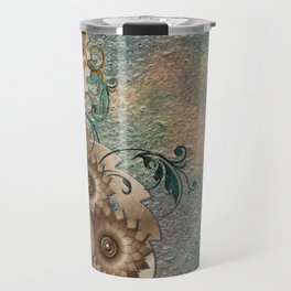 Floral Steampunk Travel Mug