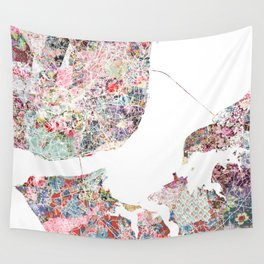 Lisbon map Wall Tapestry