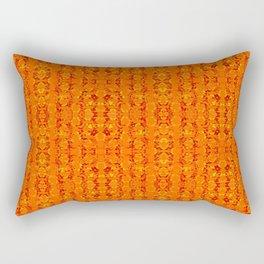Orange Aztek Abstract Print Rectangular Pillow