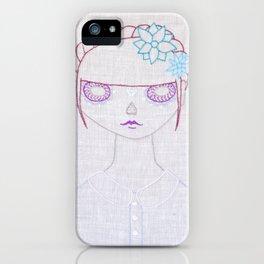 Dia de los Muertos Embroidery iPhone Case