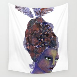 Feather in her Hair Wall Tapestry