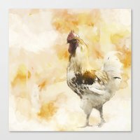 rooster Canvas Prints featuring Rooster by ChiaraLily