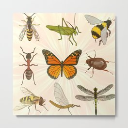 Insects on Parade Metal Print