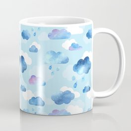 Watercolour Rain Clouds blue - pattern Coffee Mug