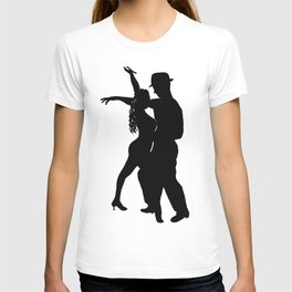 Dance with me - Ink Painting Wall Art Home Decor Black and White Music Illustration Dance Salsa T-shirt
