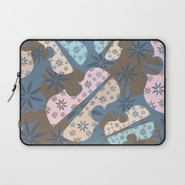 Flower Cello Violin Viola Pattern in blues and pinks Laptop Sleeve