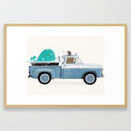 little truck Framed Art Print