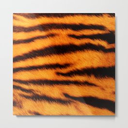 Tiger Print Metal Print