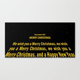 December XXV - Merry Christmas Canvas Print