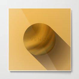 Flat Planet - #4 Venus Metal Print