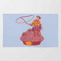 western Area & Throw Rugs featuring Spaghetti Western by Tom Burns
