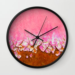 Pink and Rust Wall Clock