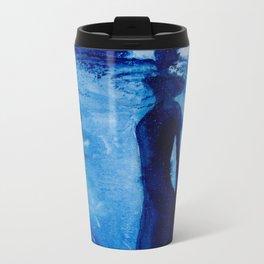 Ebbing into Blue Metal Travel Mug