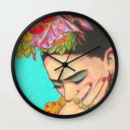 FRIDA KAHLO THINKS  Wall Clock