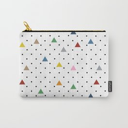 Pin Point Triangles Carry-All Pouch