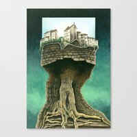 City on a tree Canvas Print