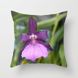 Lady's Slipper Orchid Throw Pillow