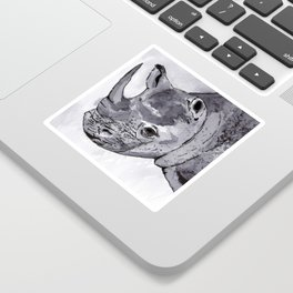 Rhino - Animal Series in Ink Sticker