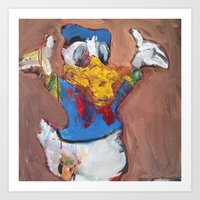 donald duck Art Prints featuring Donald Duck diddy by Larry Caveney