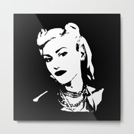 Portrait of an American singer, songwriter, and actress Metal Print