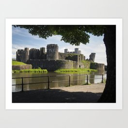 Caerphilly Castle, Wales. Art Print