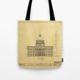 Alabama State Capitol 1851 Tote Bag