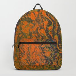 Dirty Acrylic Pour Painting 16, Fluid Art Reproduction Abstract Artwork Backpack