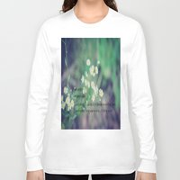 jane austen Long Sleeve T-shirts featuring Friends Jane Austen by KimberosePhotography