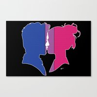 bisexual Canvas Prints featuring Bisexual Love by Winter Graphics