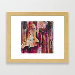 """Kiss"" Original Painting by Flora Bowley Framed Art Print"
