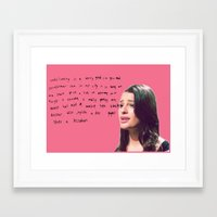 glee Framed Art Prints featuring glee 1 by Willow Summers