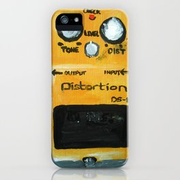 Guitar Pedal Boss DS1 Alternative Acrylic On Canvas iPhone Case
