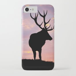 Stag And Sunset iPhone Case
