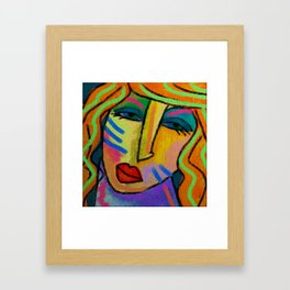 Abstract Digital Painting of a Woman Framed Art Print