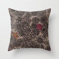 flower pattern Throw Pillows featuring Flower Pattern by Aubree Eisenwinter