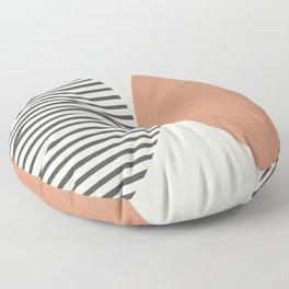 Semicircle Stripes - Terracotta Floor Pillow