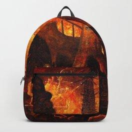 Red Hellish Landscape Backpack