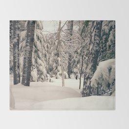 Winter Woods 2 Throw Blanket