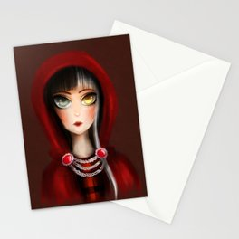 Cerise Hood -  the mistery's girl Stationery Cards