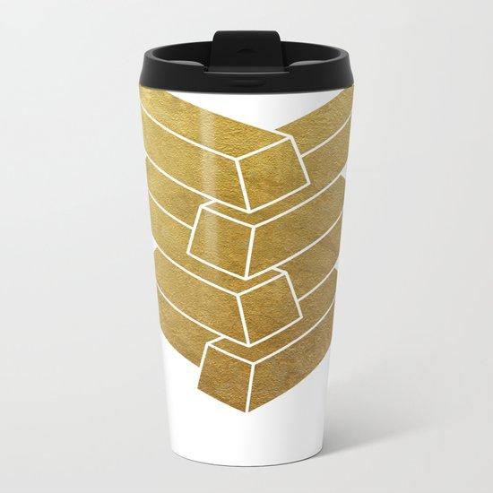 Illusory (white) Metal Travel Mug