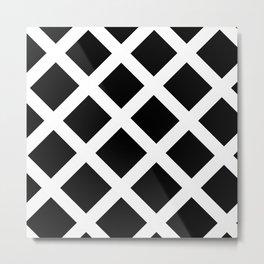 Rhombus Black & White Metal Print