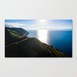 cable bay at sunset new zealand Canvas Print